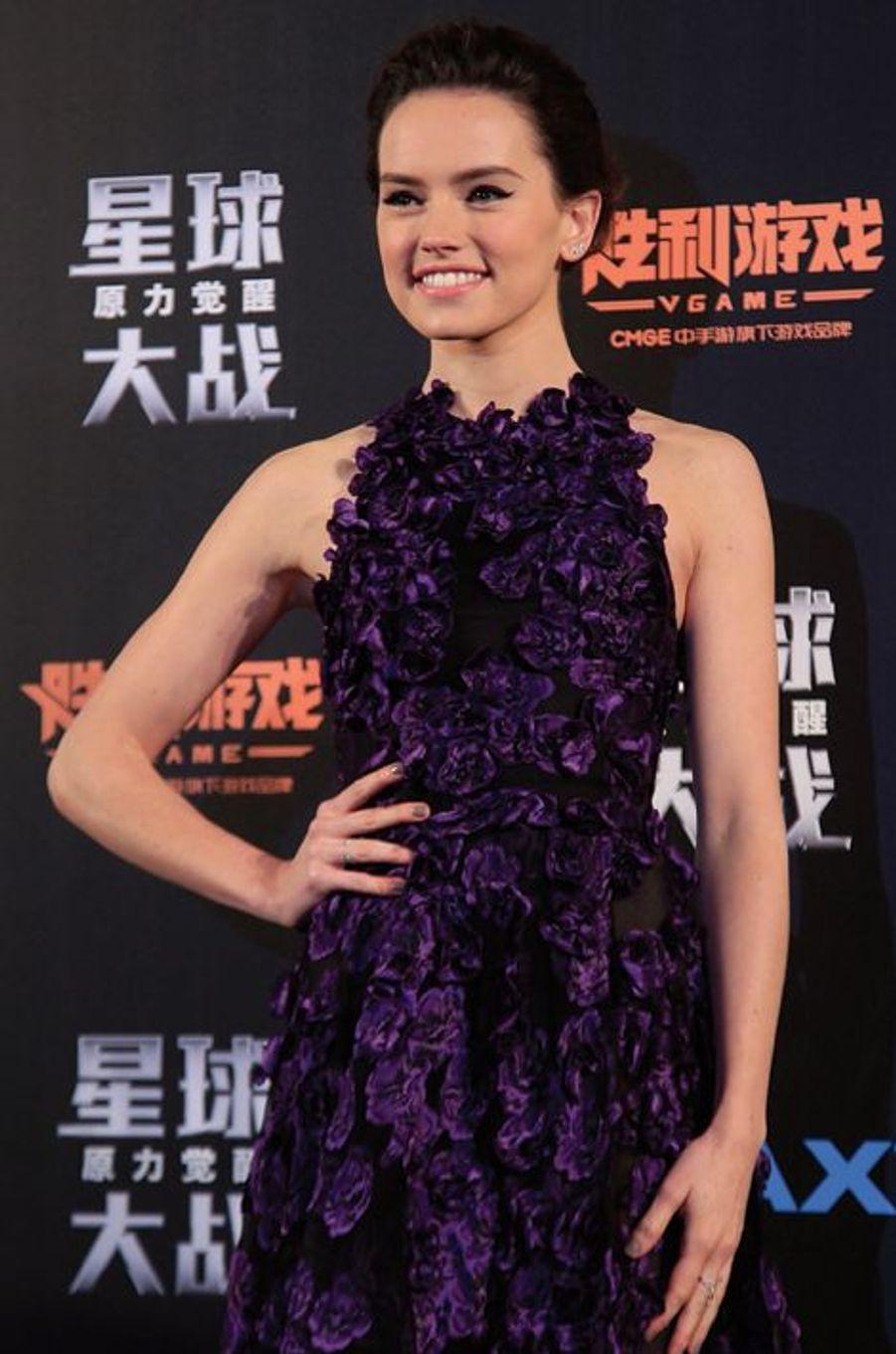 Daisy Ridley à Shanghai le 27 décembre 2015