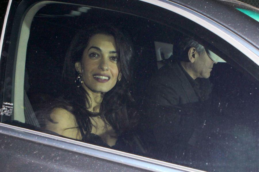 Amal et George Clooney à Los Angeles le 13 décembre 2014