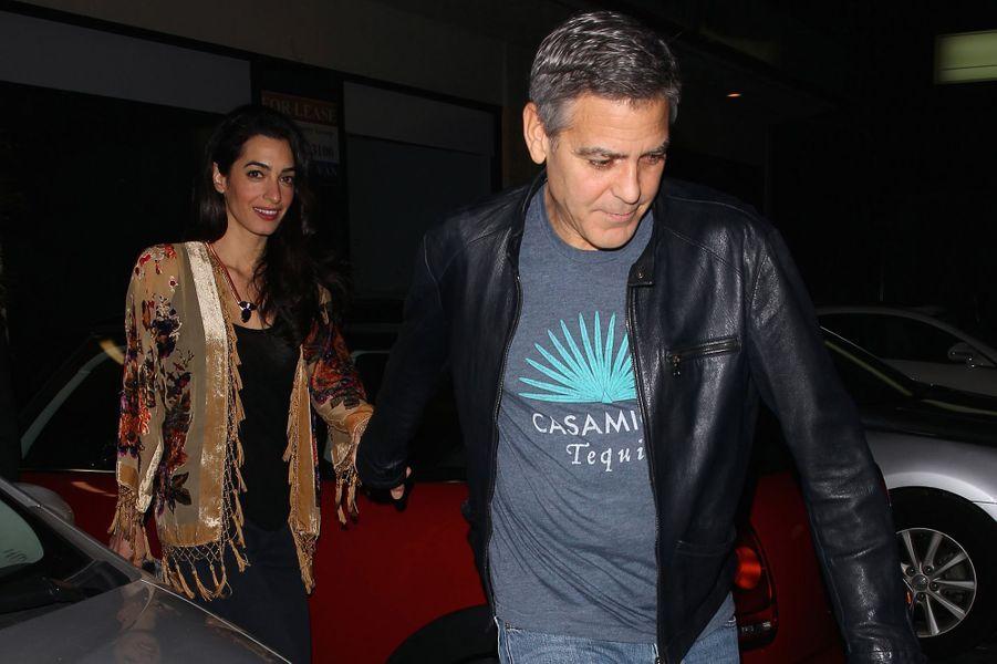 Amal et George Clooney à Los Angeles le 14 décembre 2014