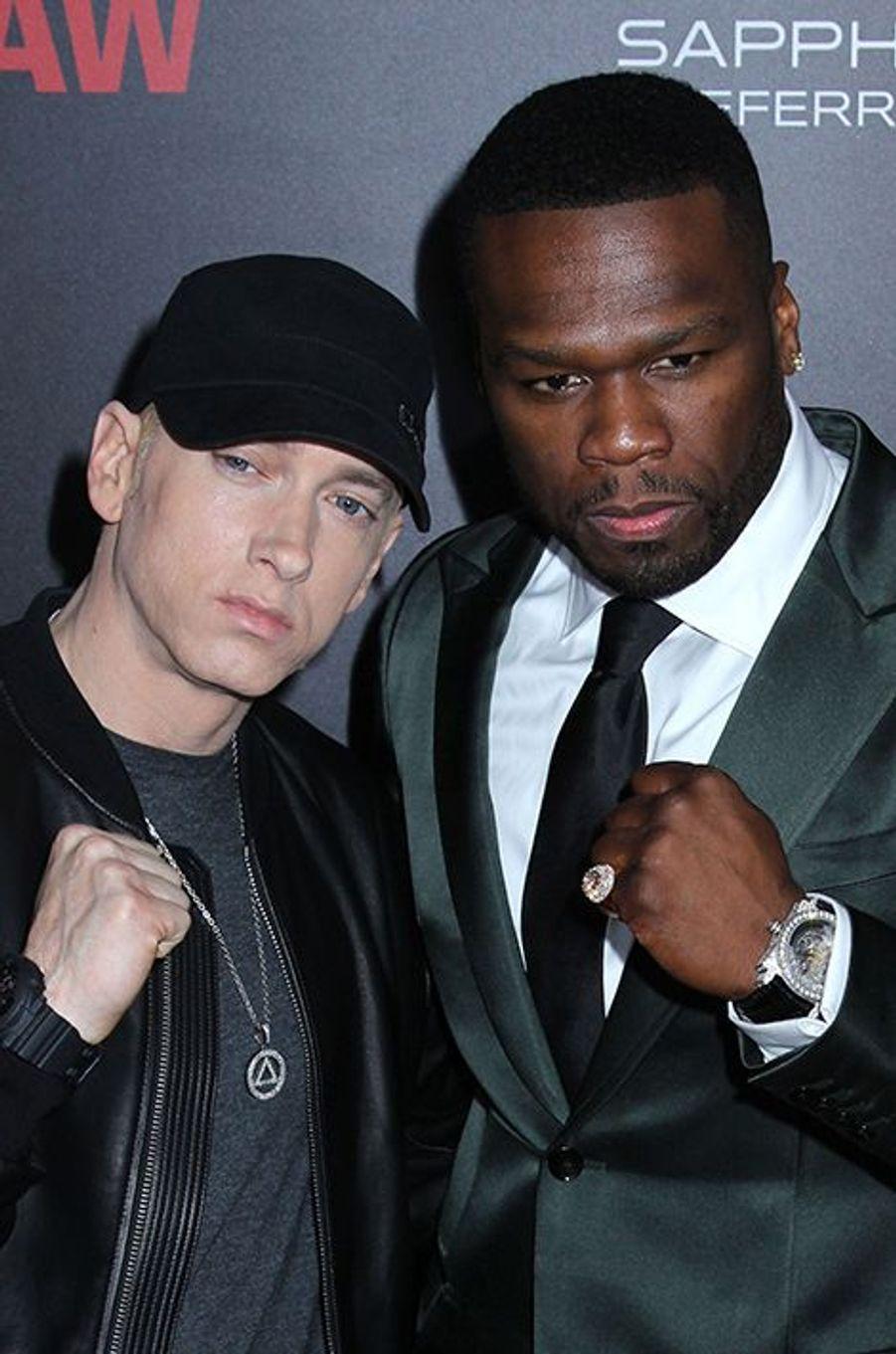 Eminem et 50 Cent à New York le 20 juillet 2015