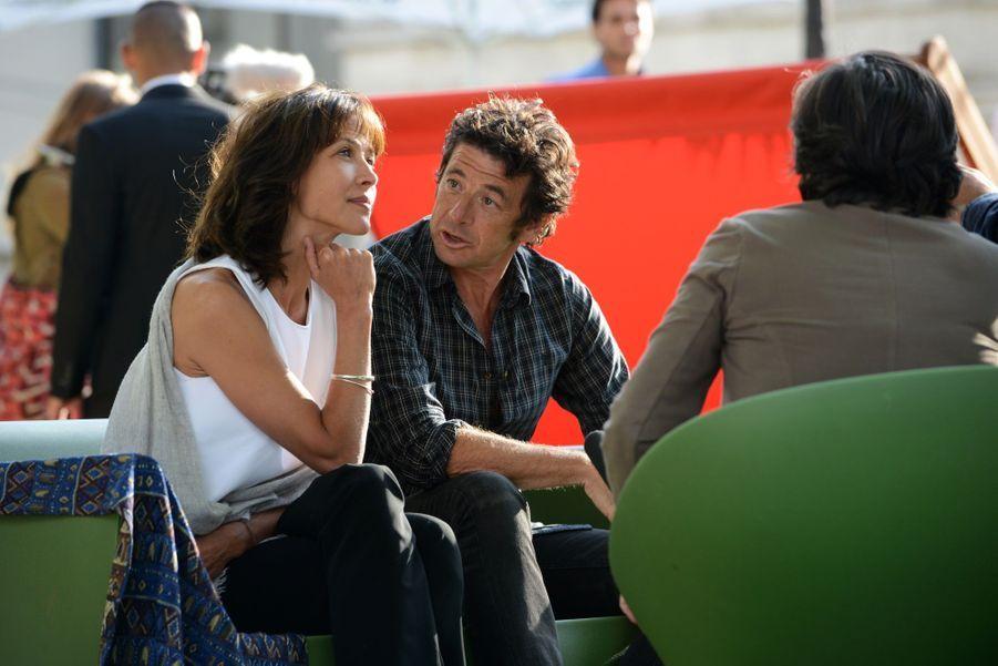 Sophie Marceau et Patrick Bruel en séance d'interview