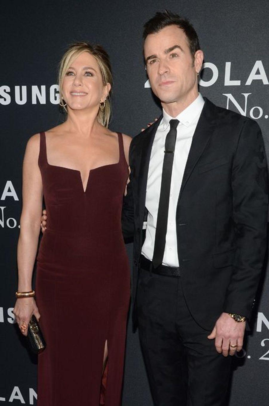 Jennifer Aniston et Justin Theroux à New York le 9 février 2016