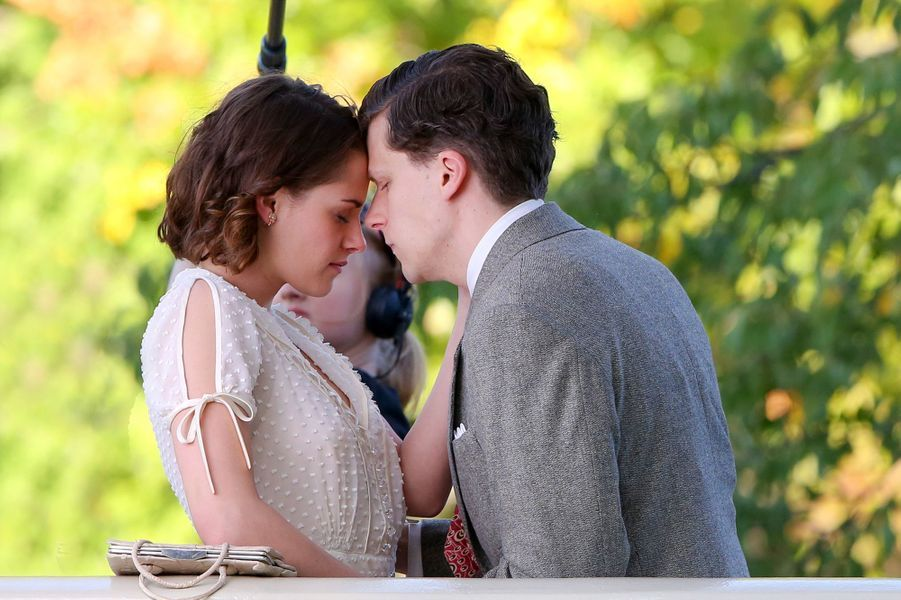 Kristen Stewart et Jesse Eisenberg à New York le 21 octobre 2015