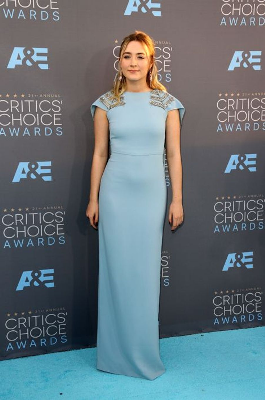 Saoirse Ronan (en robe Antonio Berardi)