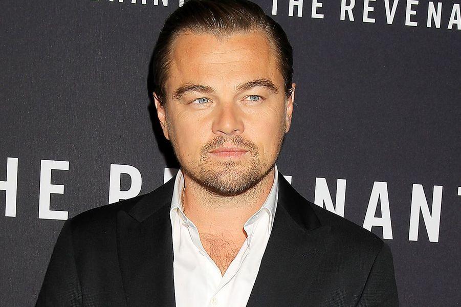 """Leonardo DiCaprio à l'avant-première de """"The Revenant"""" à New York le 6 janvier 2016"""