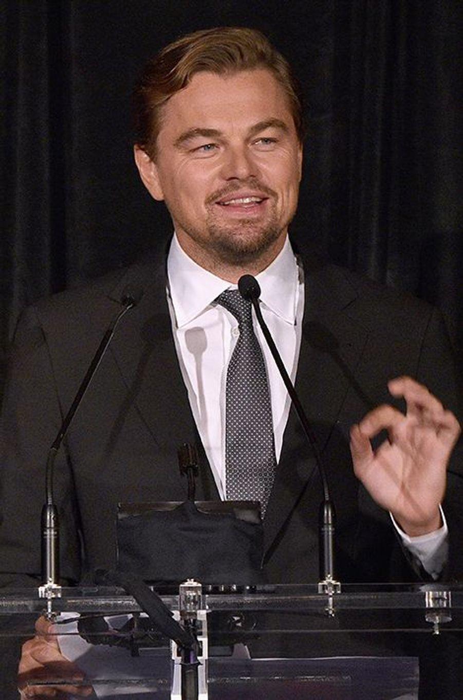 Leonardo DiCaprio à New York le 15 octobre 2015