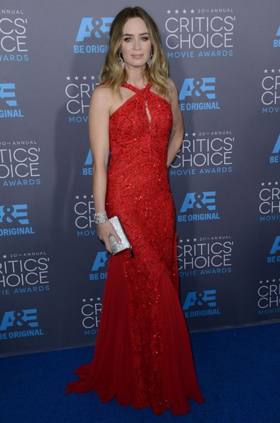Emily Blunt en Emilio Pucci aux Critics' Choice Movie Awards, en janvier 2015