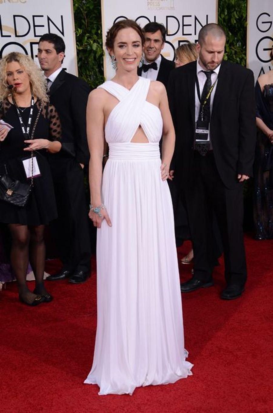 Emily Blunt en Michael Kors aux Golden Globes, en janvier 2015