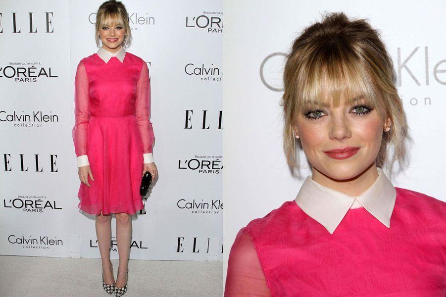 Le 15 octobre 2012, pour une soirée organisée à Hollywood par «Elle Magazine»