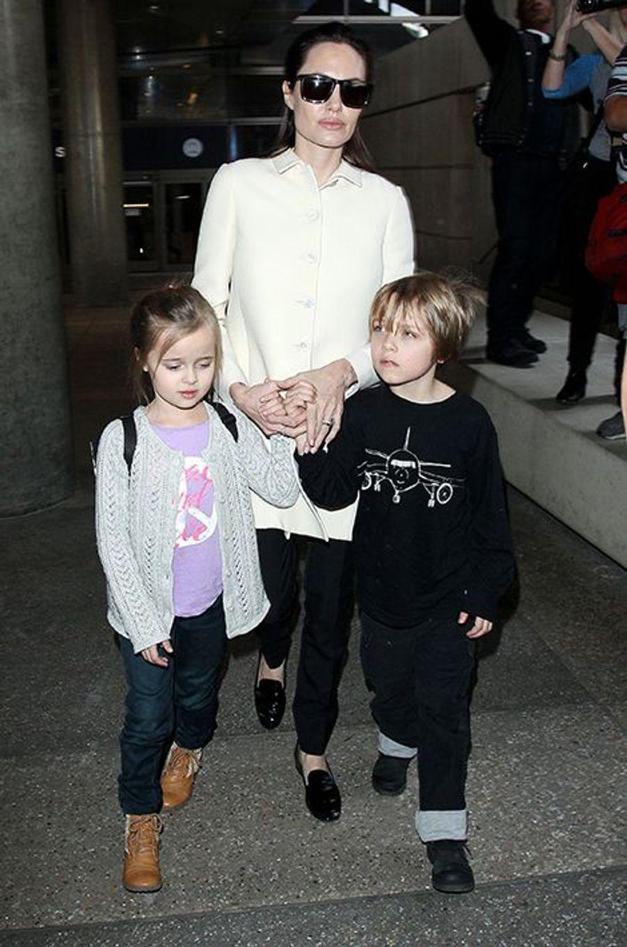 Avec Angelina Jolie le 11 février 2015