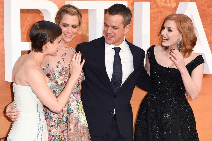 Kate Mara, Kristen Wiig, Matt Damon et Jessica Chastain