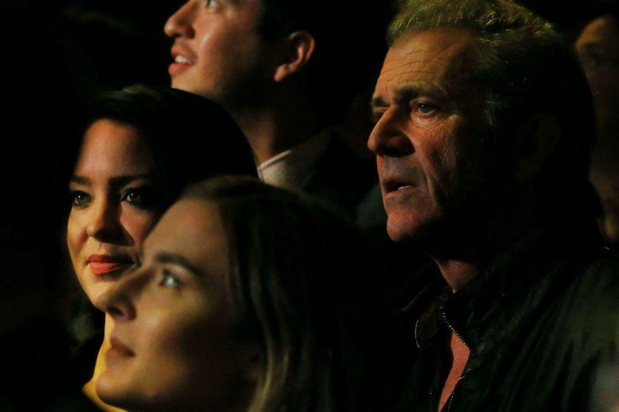Mel Gibson avec Rosalind Ross, à Sydney