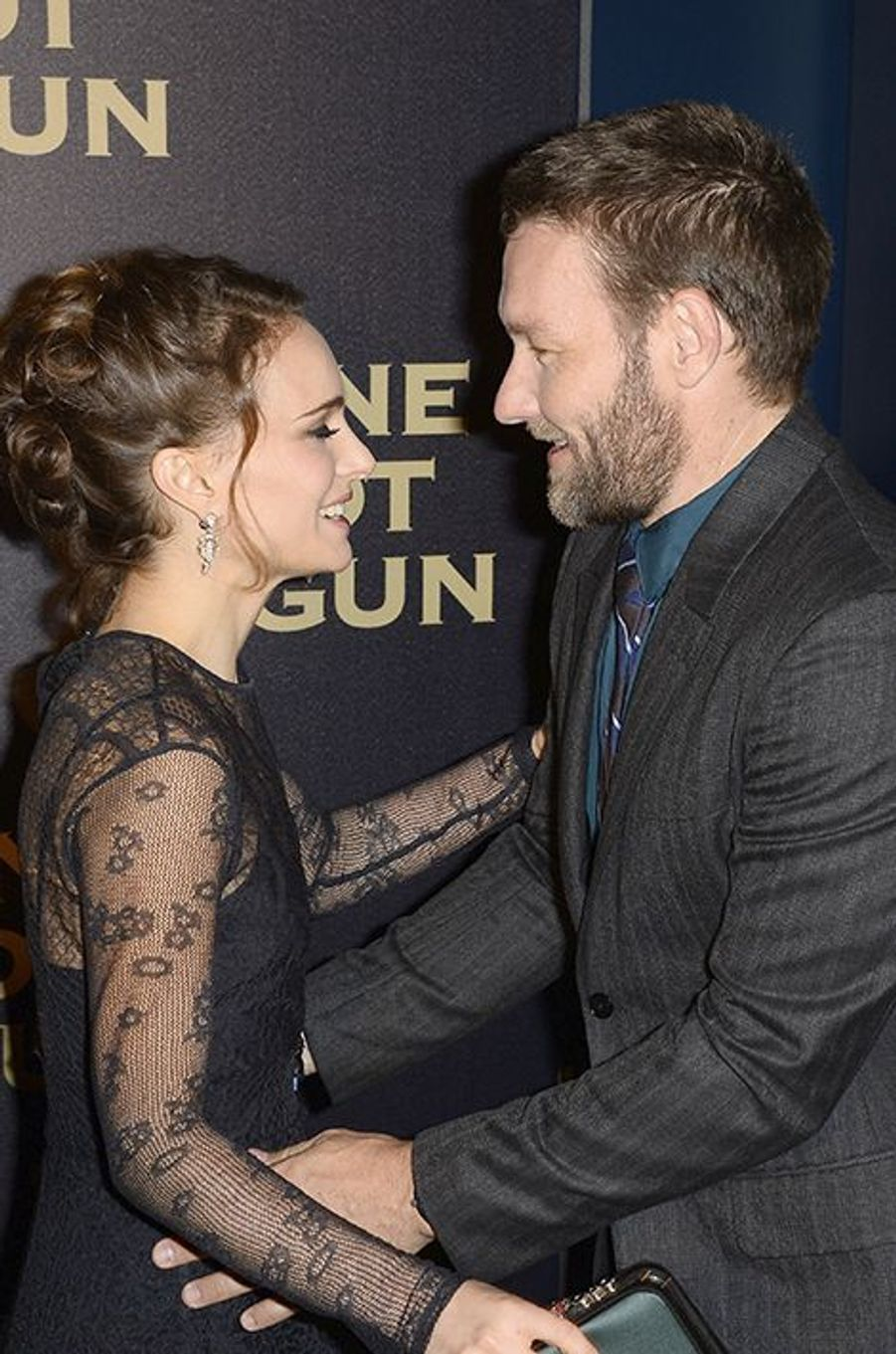 Natalie Portman et Joel Edgerton à Paris le 24 janvier 2016