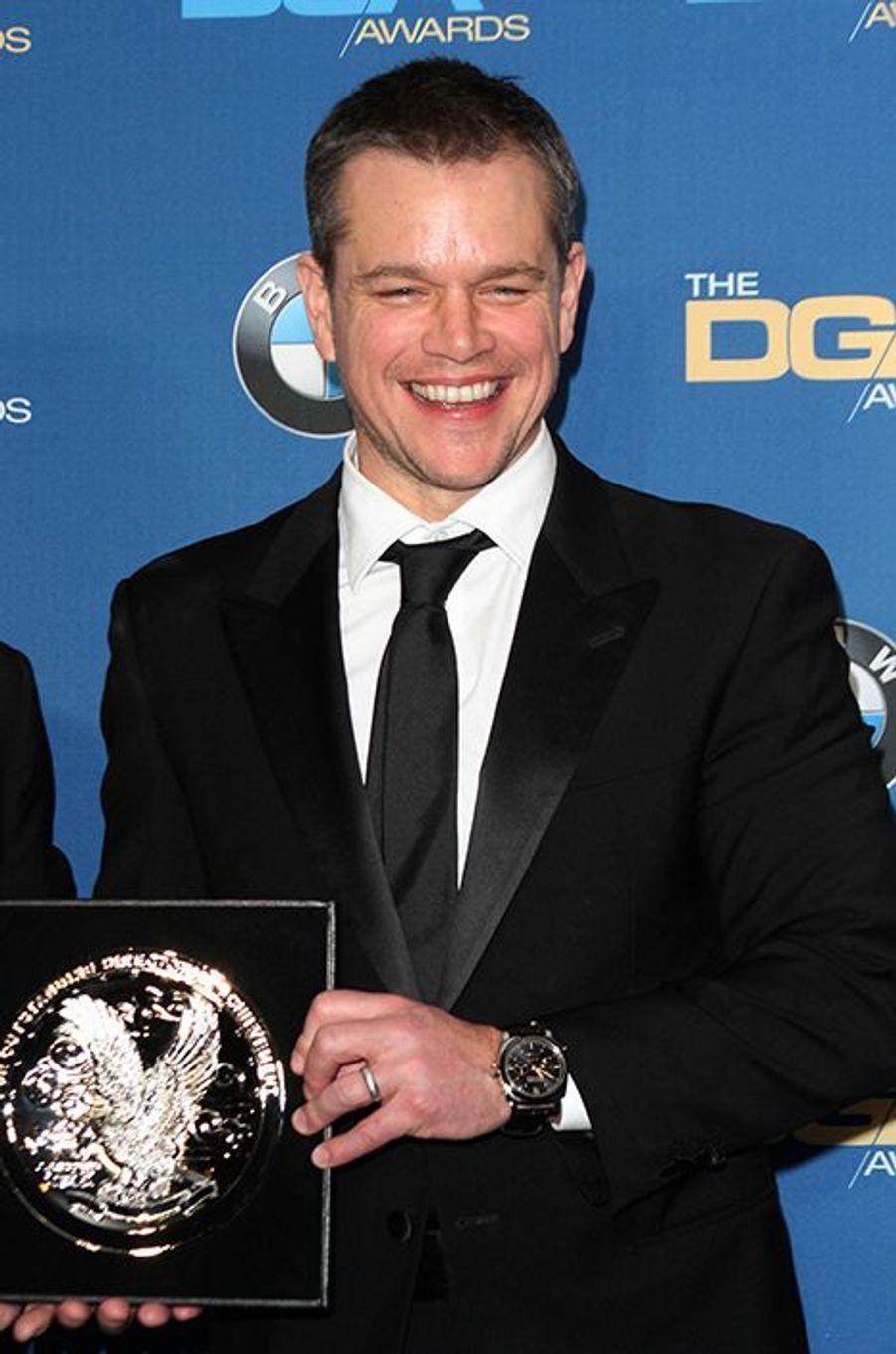 Matt Damon aux DGA Awards, le 6 février 2016