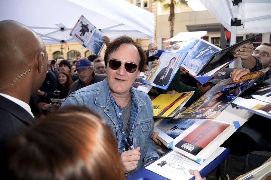 Quentin Tarantino à Los Angeles le 21 décembre 2015