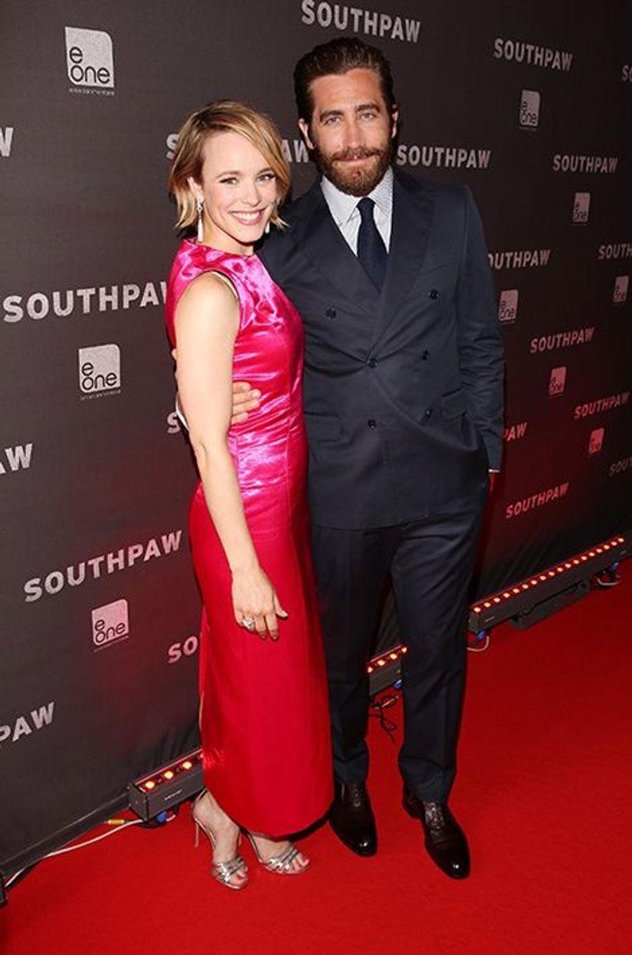 Rachel McAdams et Jake Gyllenhaal à Toronto le 9 juillet 2015