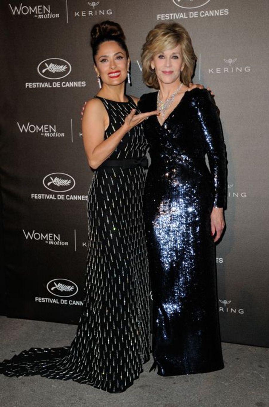 Salma Hayek et Jane Fonda