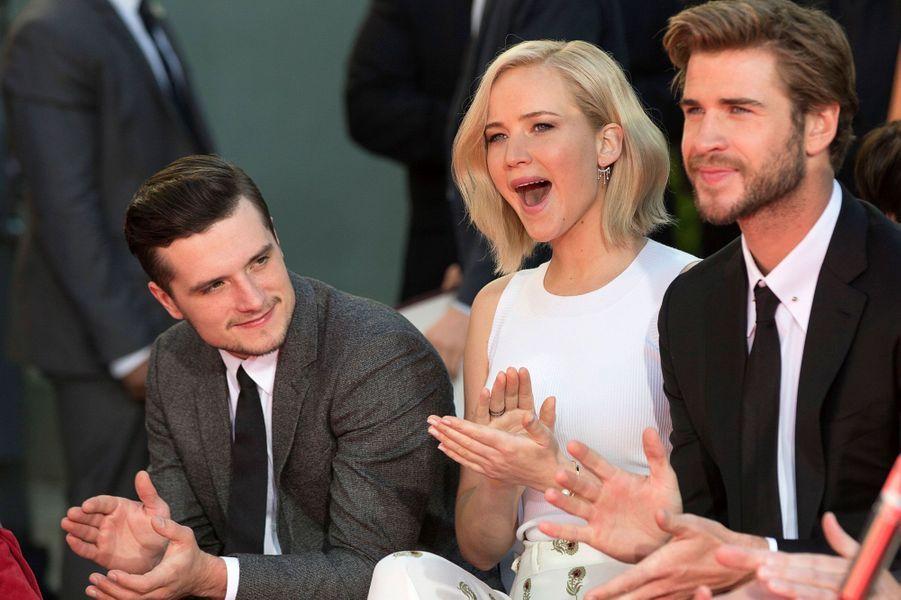 """Le trio de """"Hunger Games"""" à Los Angeles samedi"""