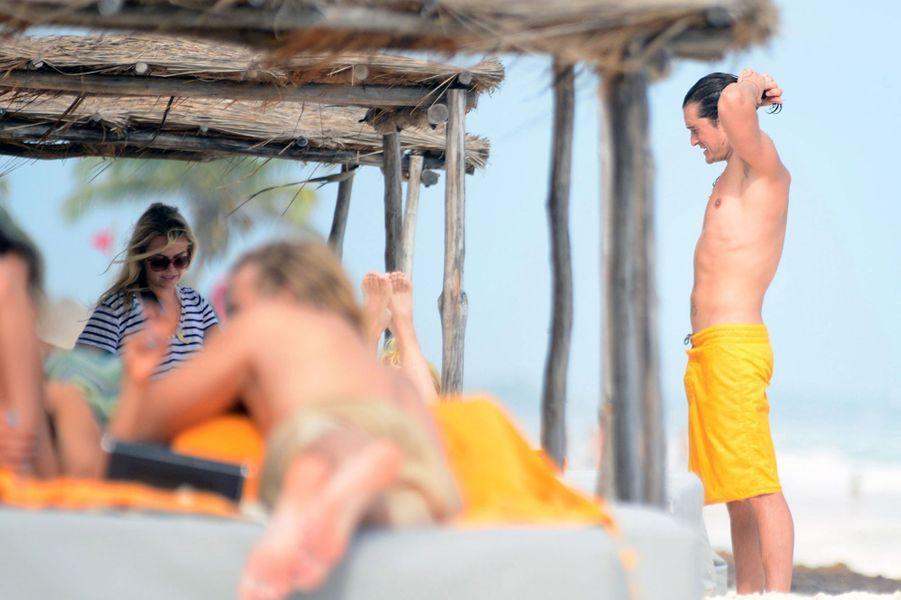 Orlando Bloom en vacances à Cancun, le 28 décembre 2014