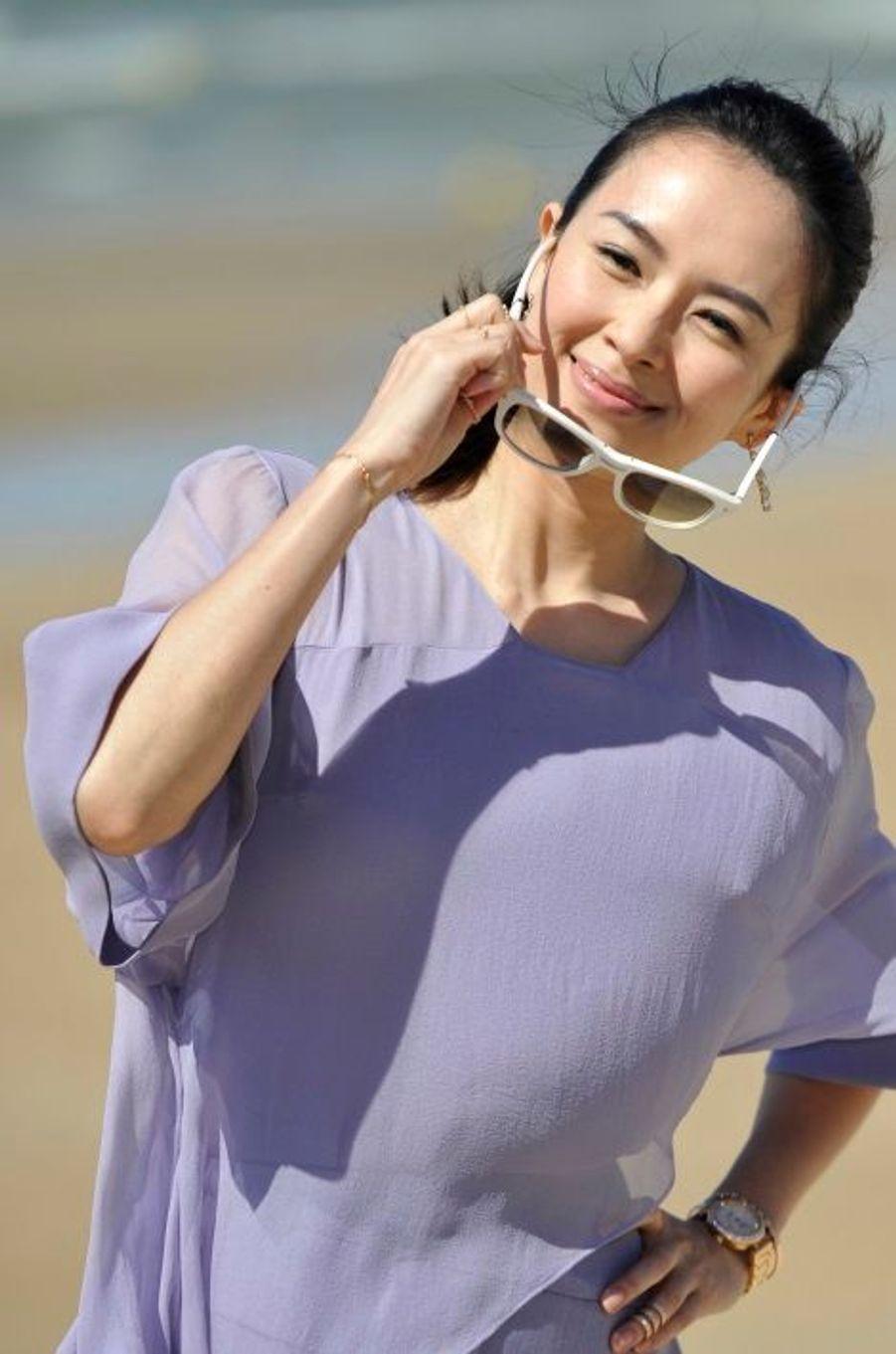 Zhang Ziyi, l'amour à la plage