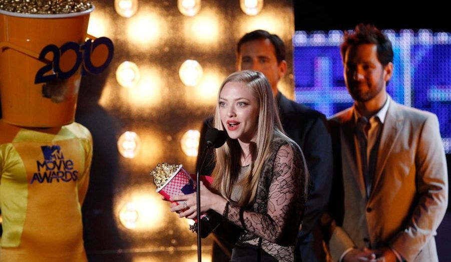 Amanda Seyfried (Jennifer's Body), a été honorée du MTV Awards de la meilleure performance flippante.