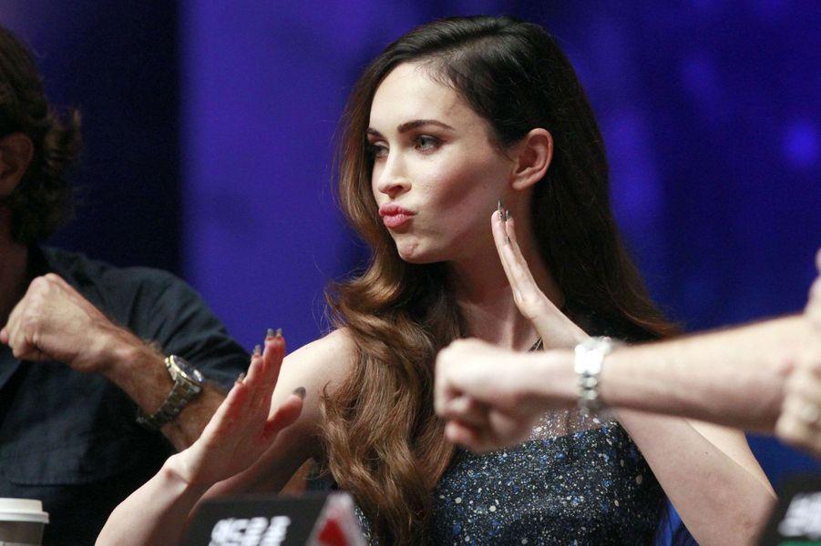 Megan Fox assure la promo de son film «Tortue Ninja» à Séoul en Corée du Sud, le 27 août 2014