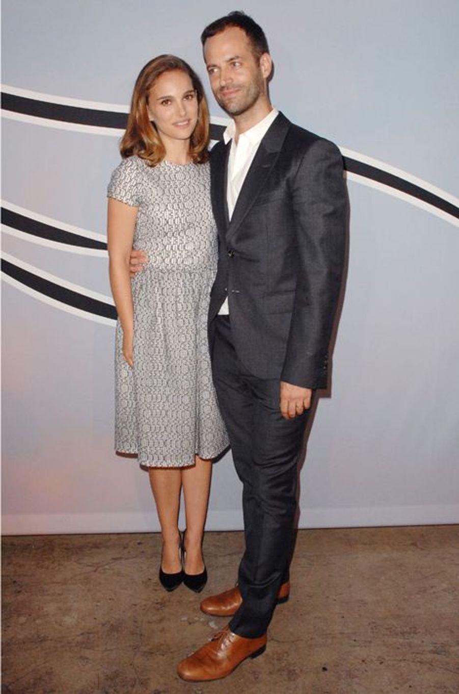 Natalie Portman et Benjamin Millepied à Los Angeles le 25 octobre 2014