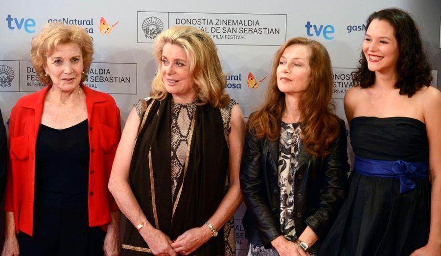 Maria Paredas, Catherine Deneuve, Isabelle Huppert et Sara Carinhas