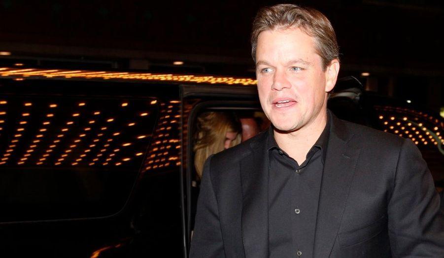 L'acteur américain était venu défendre Hereafter, le nouveau thriller de Clint Eastwood, mais sans sa co-star Cécile de France.