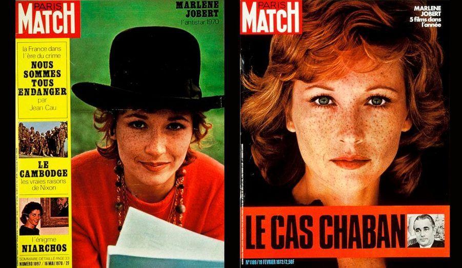 La jolie frimousse de Marlène Jobert en a fait tourner plus d'un. La mère d'Eva Green sera en couverture de Match à deux reprises, en 1970 puis en 1972.