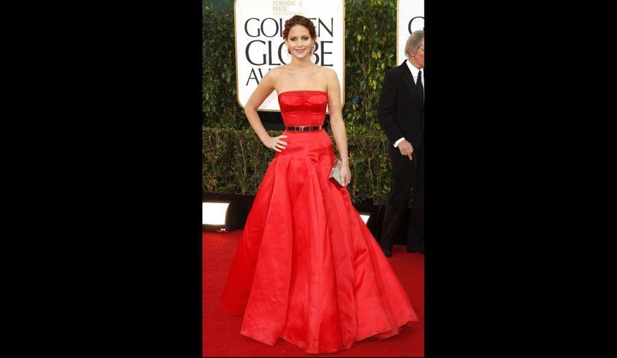 Jennifer Lawrence, en Christian Dior Haute Couture