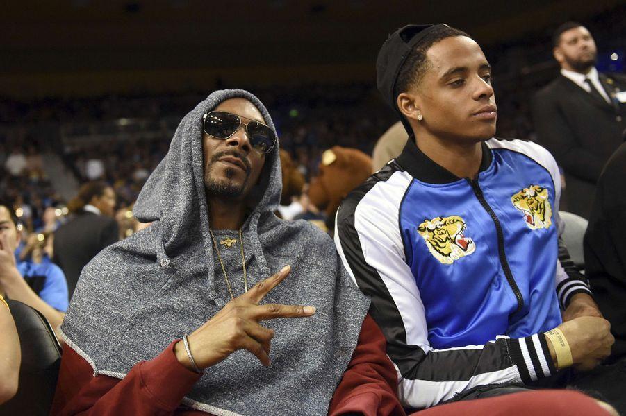 Cordell avec son père Snoop Dogg.