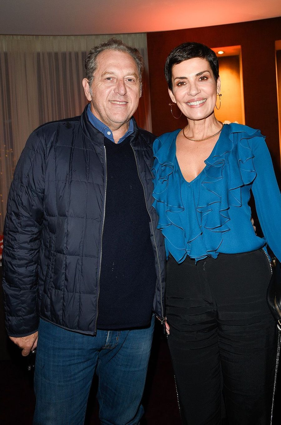 Cristina Cordula et son époux Frédéric Cassin à Paris, le 27 novembre 2017.