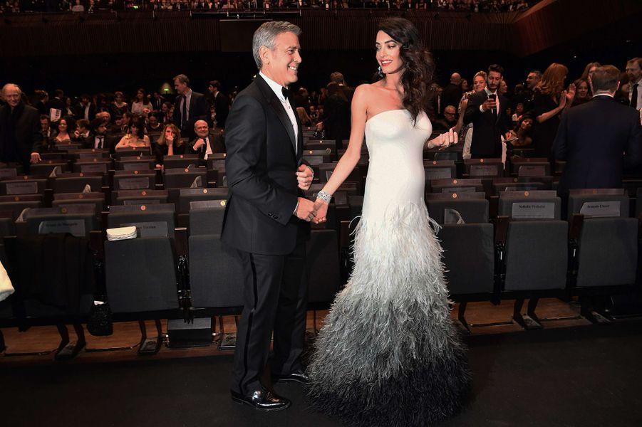 Amal et George Clooney, couple star de cette 42e cérémonie des César !