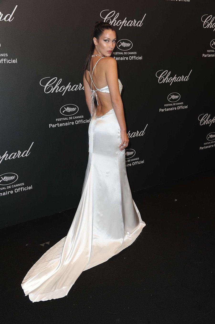 Bella Hadidà la soirée Chopard, à Cannes, le 19 mai 2017.
