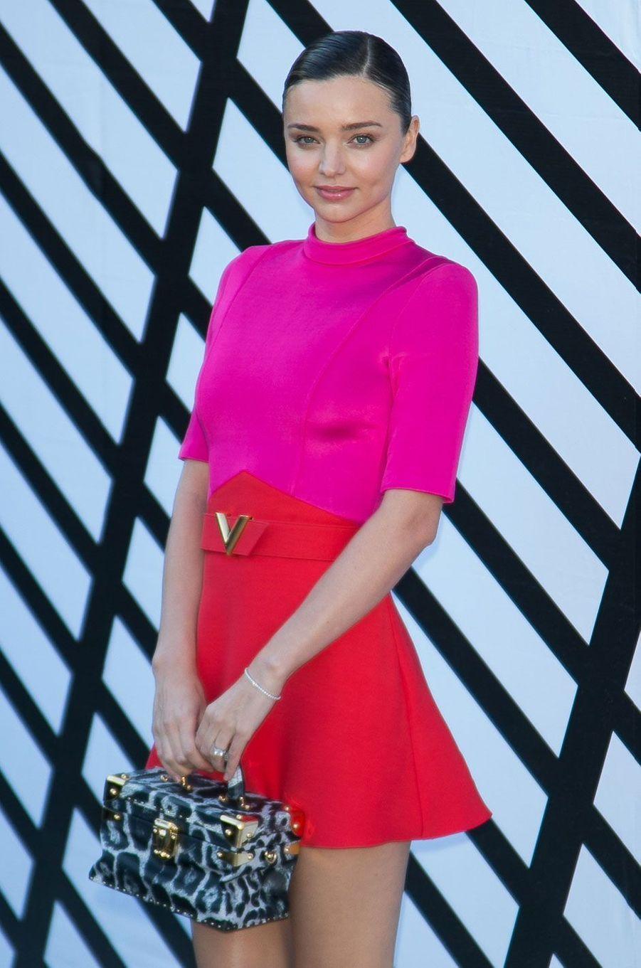 Miranda Kerr au défilé Louis Vuitton à Paris