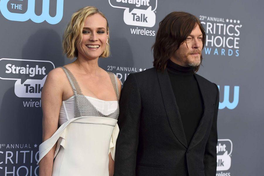 Diane Kruger et Norman Reedus aux Critics Choice Awards