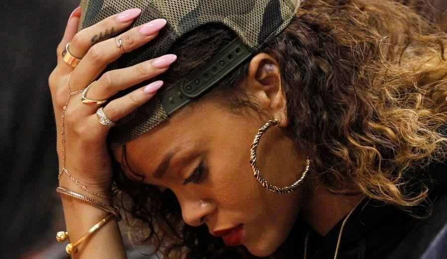 La chanteuse Rihanna a assisté à la rencontre entre le Heat et les Clippers remportés par ces derniers.