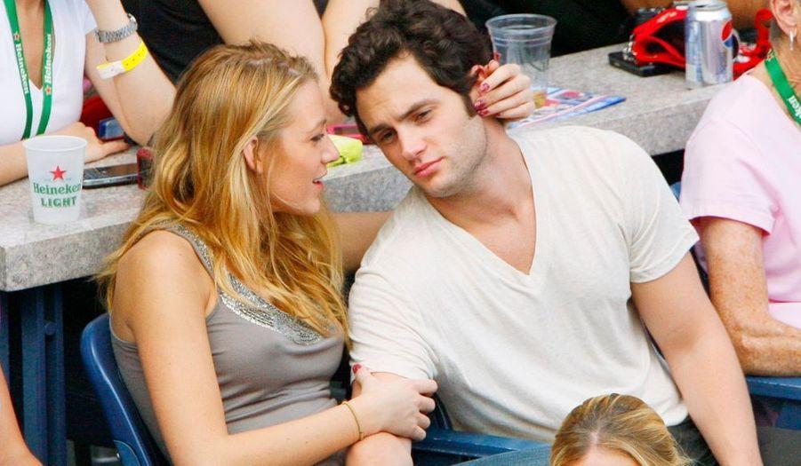 Blake Lively et Penn Badgley (Gossip Girls) ont assisté à la finale de l'US Open à New York.