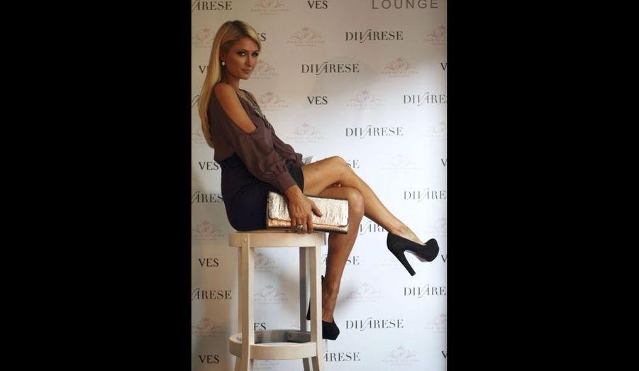 Paris Hilton, lors d'un présentation de sa ligne de chaussures, à Istanbul, en Turquie.