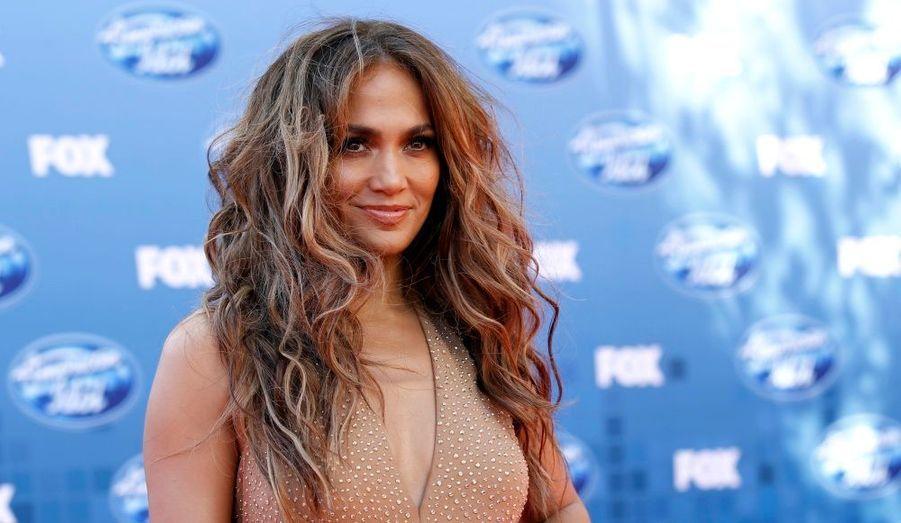 Jennifer Lopez, juge d'American Idol, assistant à la finale de la 10ème saison de l'émission de téléréalité à Los Angeles.
