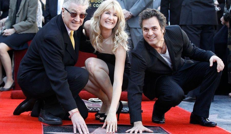 """L'actrice mythique de """"Sailor et Lula"""" a eu droit à son étoile sur le célèbre Hollywood Boulevard, en compagnie de David Lynch et Mark Ruffalo."""