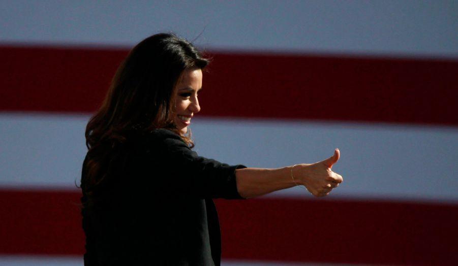 Eva Longoria a participé à une mobilisation en faveur de Barack Obama dans le Nevada, à Las Vegas. L'actrice fait partie des soutiens les plus actifs du président-sortant.