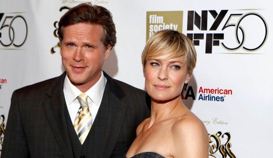 """Robin Wright et Cary Elwes se sont retrouvés au Festival du film de New York à l'occasion des 25 ans de la sortie de leur film """"Princess Bride""""."""