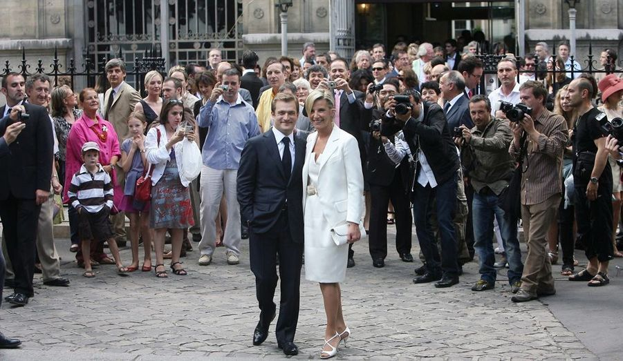 La présentatrice vedette du Journal télévisé de TF1 et le violoniste virtuose se sont mariés aujourd'hui à Paris.