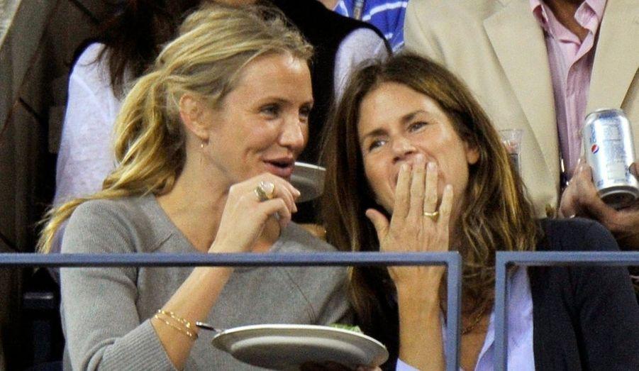 L'actrice de Night and Day était dans les tribunes de l'US Open, à New York, afin d'assister à la victoire de Roger Federer.
