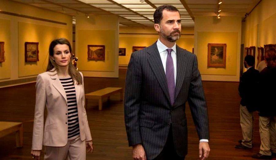 Le prince Felipe et la princesse Letizia d'Espagne sont actuellement en Israël, afin de célébrer 25 ans de relations diplomatiques entre les deux pays. Ils ont rencontré le président Shimon Peres, au Beit Hanassi, lundi, puis ont visité le mémorial de l'Holocauste au musée Yad Vashem à Jérusalem en Israël.