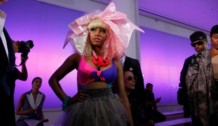 La chanteuse Nicki Minaj a assisté au défilé Prabal Gurung lors de la Fashion Week à New York.