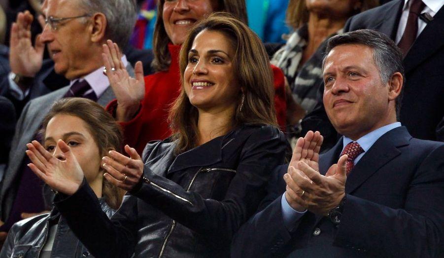 La reine Rania de Jordanie était dans les tribunes du Camp Nou pour admirer Lionel Messi et les stars du Barça, samedi soir.