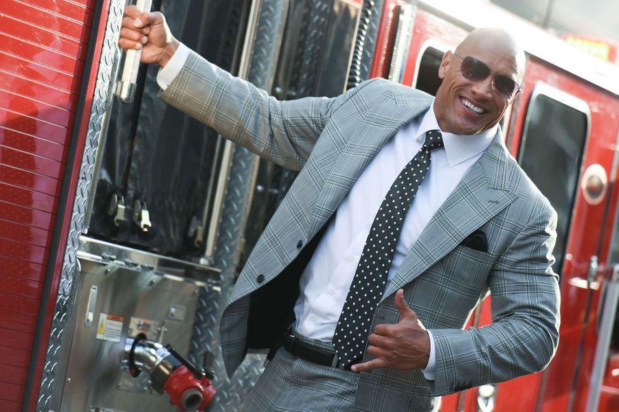 """Dwayne Johnson à l'avant-première de """"San Andreas""""."""